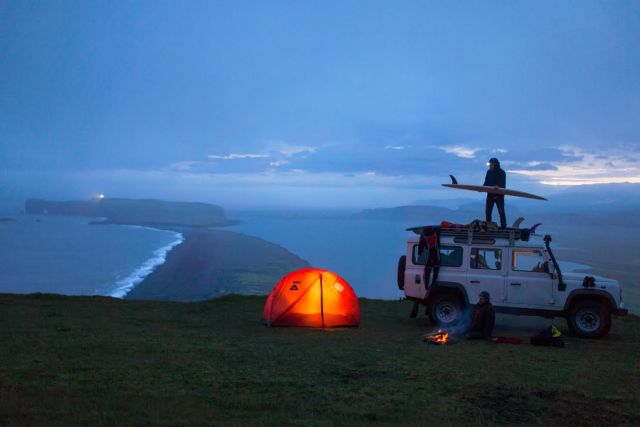 Preparing for the waves. Photo by Chris Burkard.
