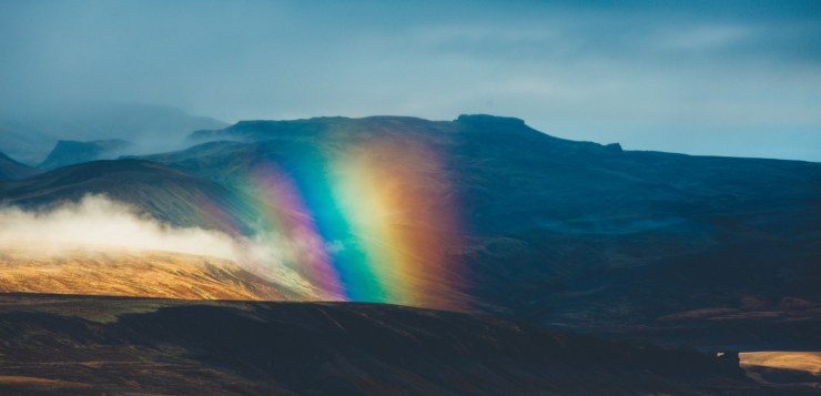 Rainbow in Iceland. It is free to look at.