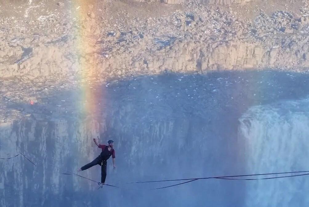 Slacklining Above Dettifoss waterfall is Just Insane!