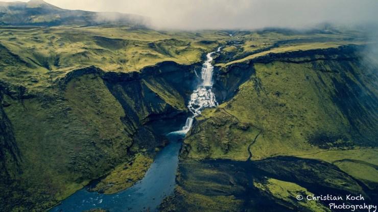 Ófærufoss waterfall in Iceland.