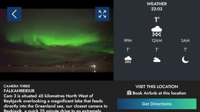 Camera 3 just detected northern lights in Iceland!