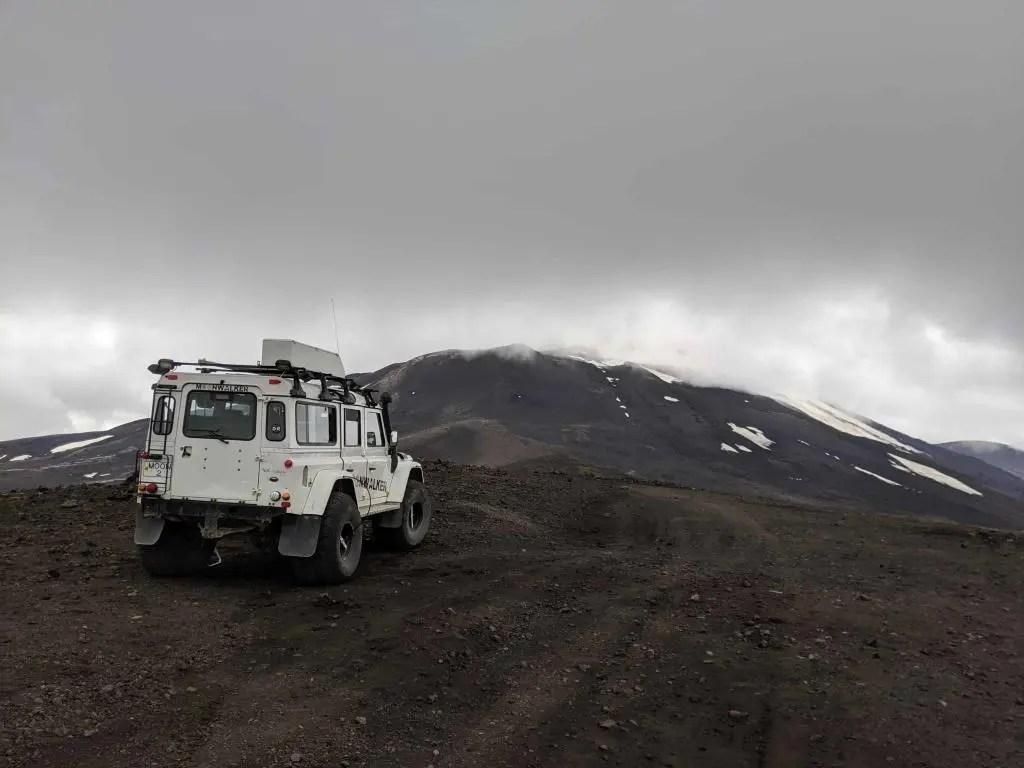 Landrover, Moonwalker 2 in its natural habitat. On Mt. Hekla