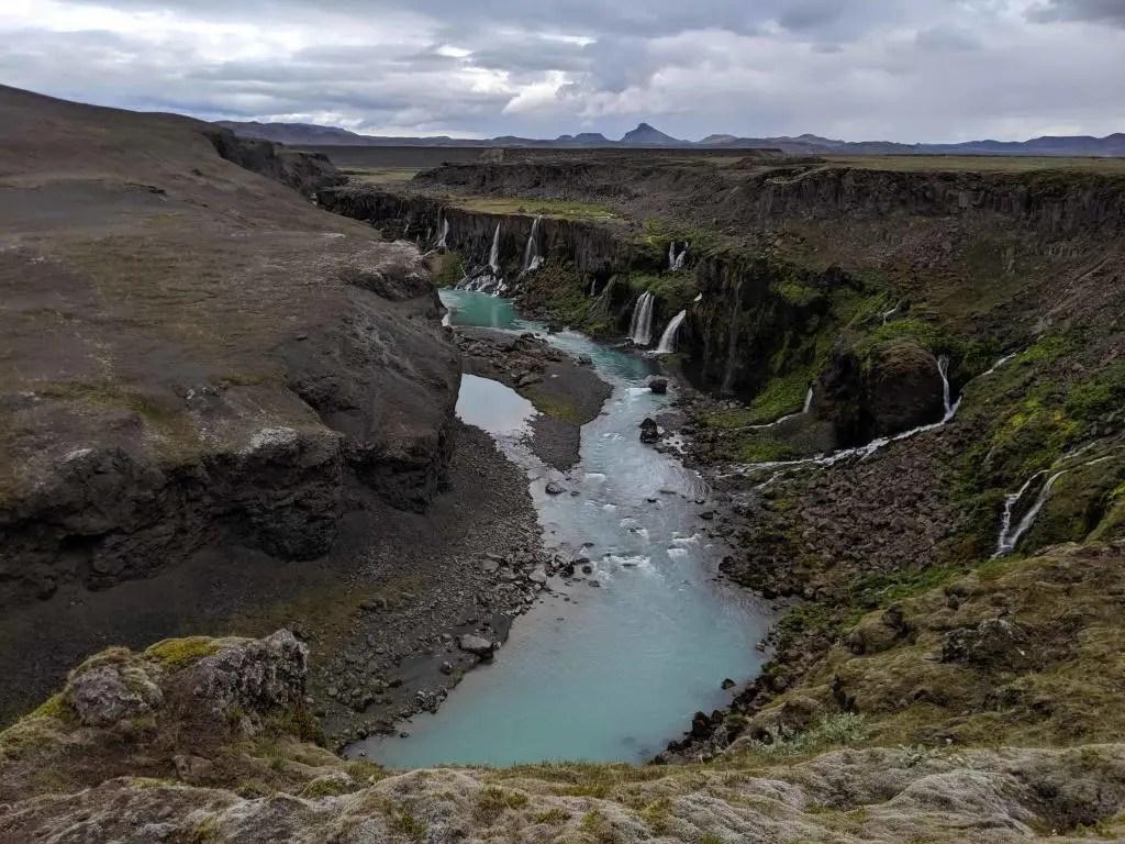 The lovely Sigöldugljúfur canyon.