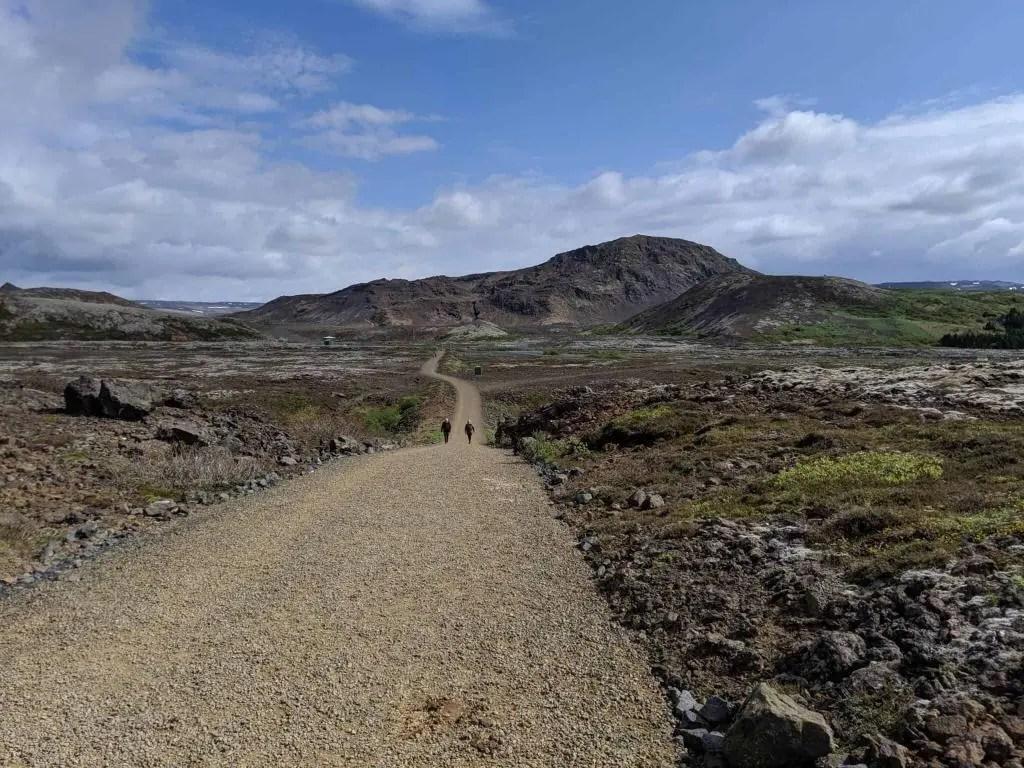 The road towards Helgafell.