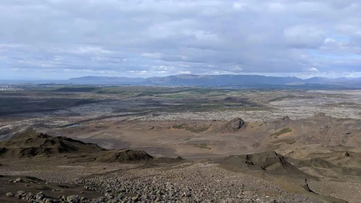 Helgafell hiking trail gives you the perfect view of Reykjavik