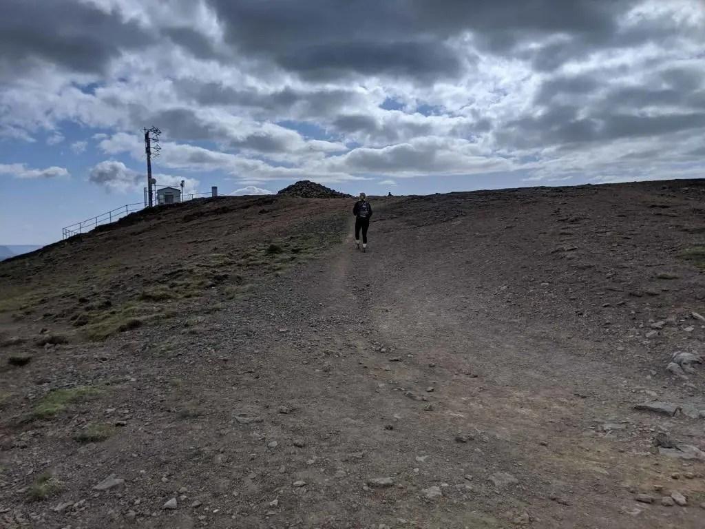 The destination of the Reykjavik family friendly hiking trail at Úlfarsfell.