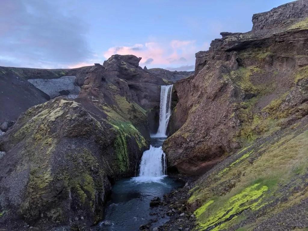 Waterfall in Skógá river