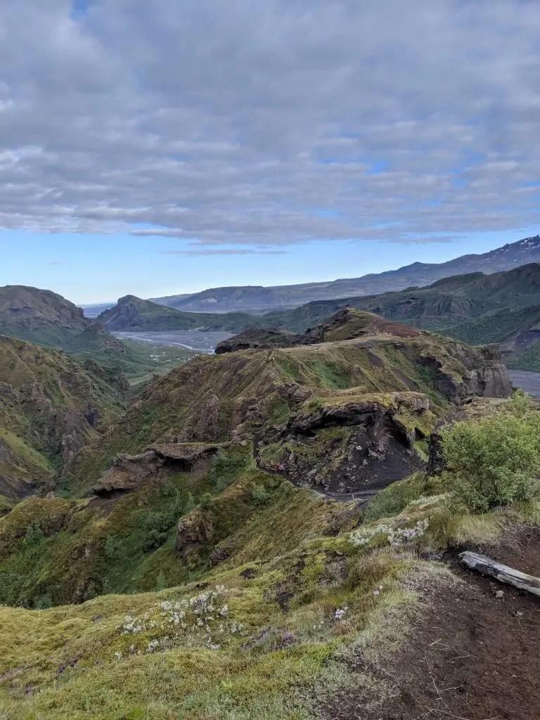 Kattarhryggir or 'Cat Ridges' above Þórsmörk