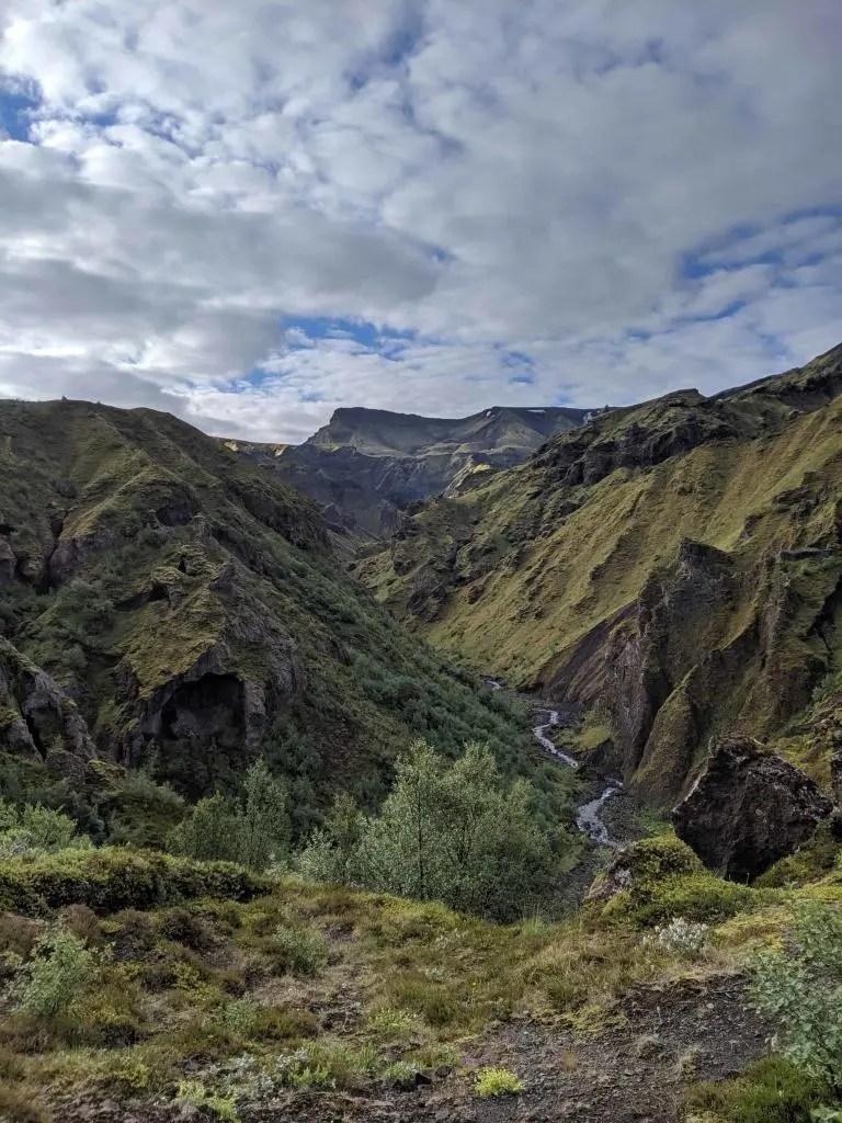 Strákagil which leads down to Þórsmörk