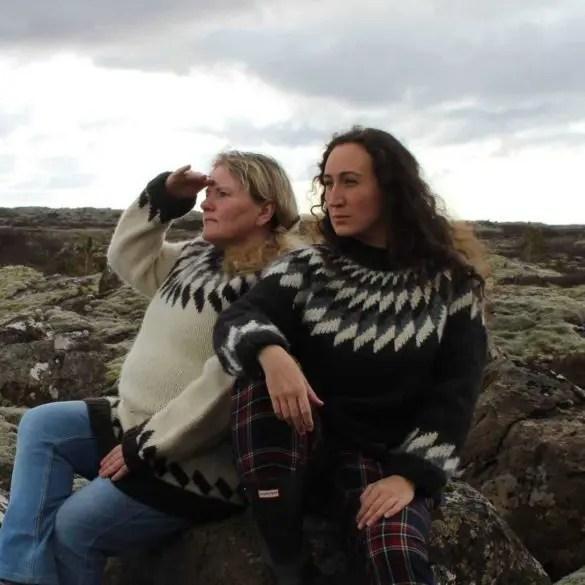 Ester Sveinbjarnardóttir and Birgitta Sigursteinsdottir poke fun at mythical Iceland.