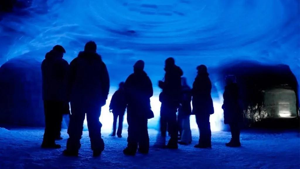 Enter the massive ice tunnel.