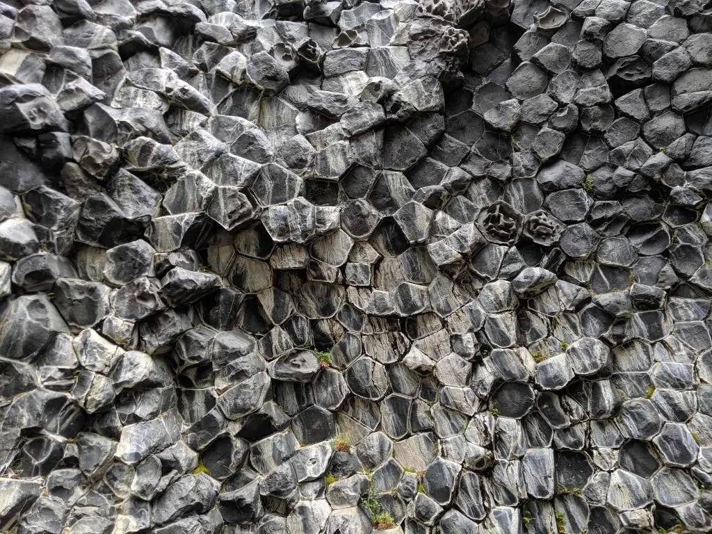 Epic display of basalt columns in Iceland