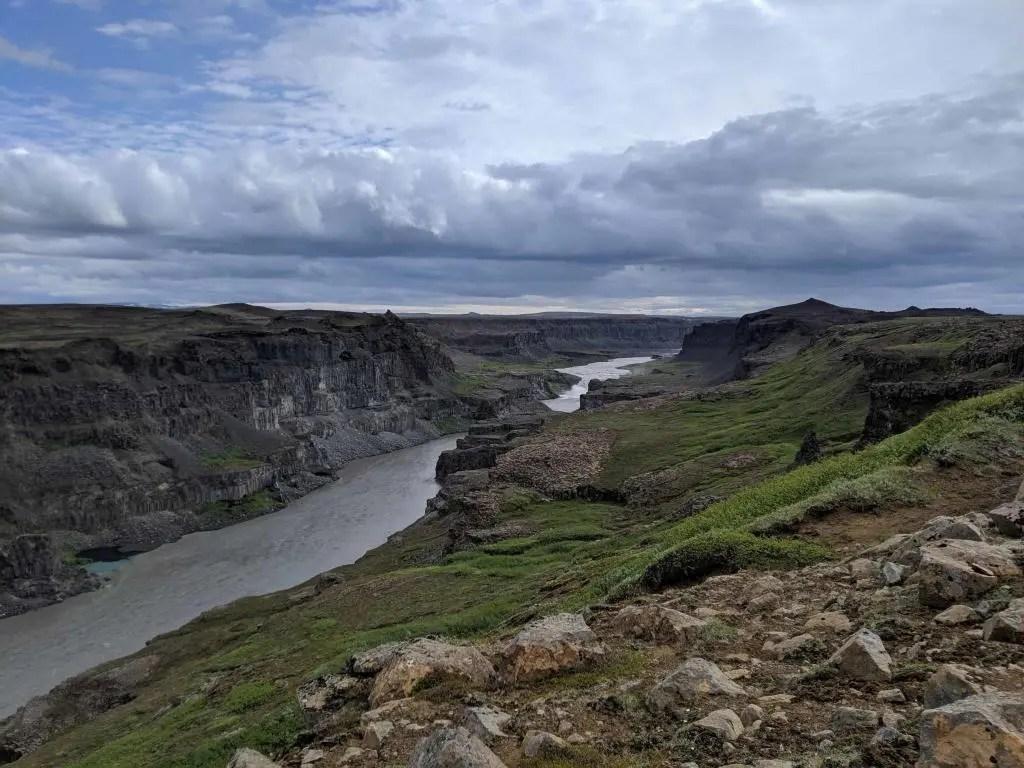 View of the Jökulsárgljúfur canyon.