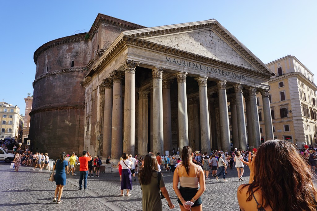 The Pantheon on a beautiful, sunny day. This must be included in the what to do in Rome itinerary.