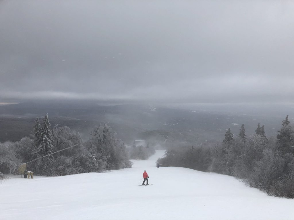 The beautiful view from around the top of Stratton Mountain. You can see the meandering slope and rolling hills in the background.