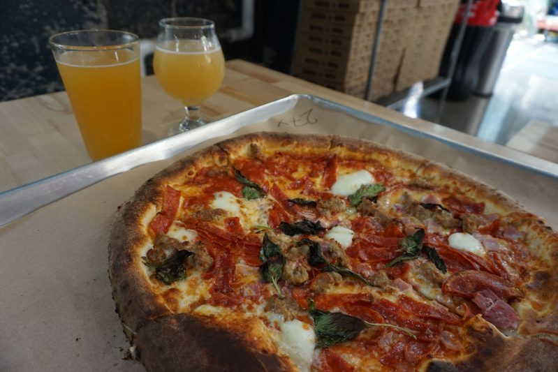 pizza and beer at downtown Winston-Salem restaurants