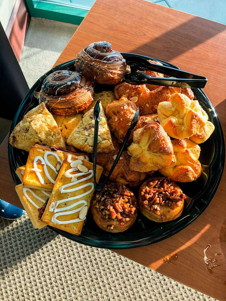 pastries on a platter