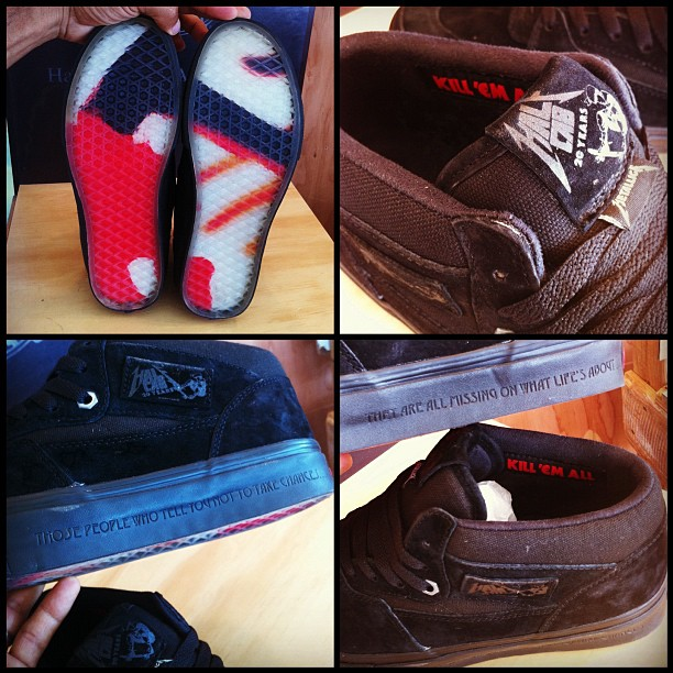 vans half cab metallica for sale
