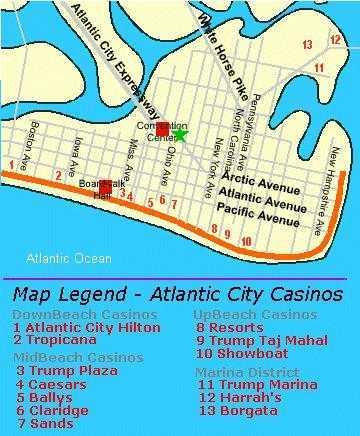 Map Of Atlantic City Casino : atlantic, casino, Atlantic, Information