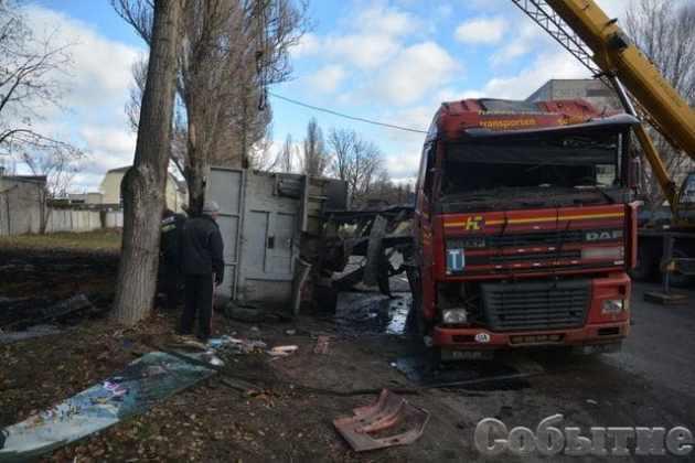 В Днепропетровской области сервисный центр МВД забрызгали 20 тоннами жидких фекалий 6
