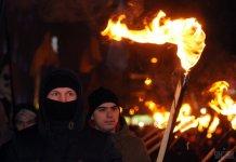 В Украине прошли факельные шествия по случаю дня рождения Степана Бандеры 21