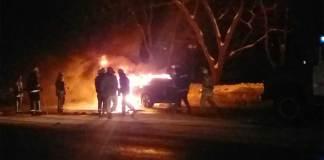 В Харькове на ходу загорелся BMW X6