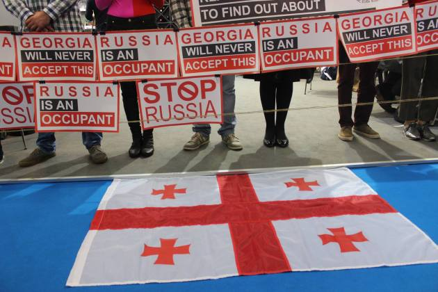 """Stop Russia"": Грузинские писатели и издатели устроили протест на книжной выставке во Франкфурте 5"