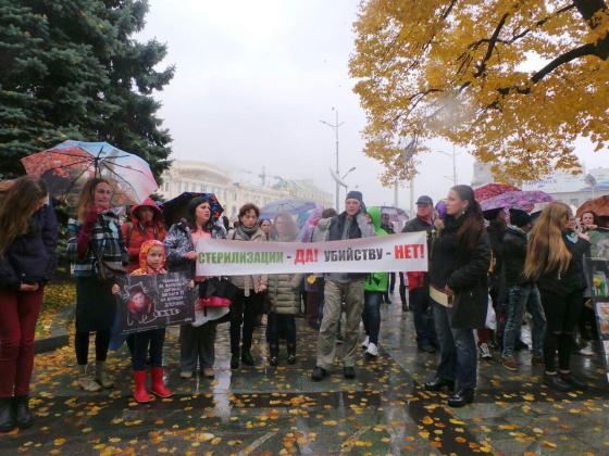 В Харькове митинговали за права животных 7