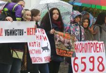 В Харькове митинговали за права животных 10