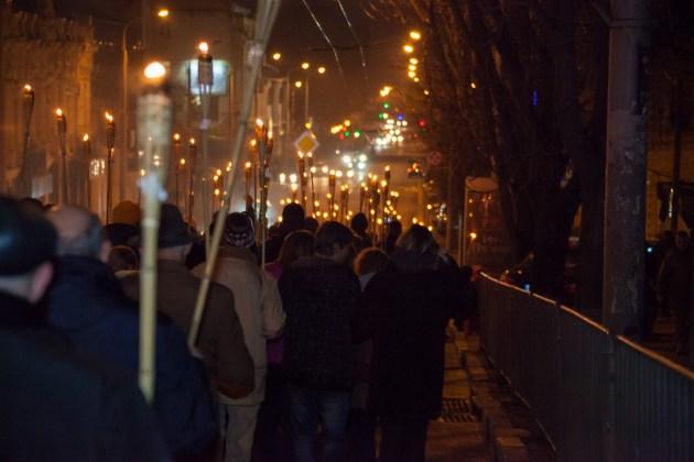 В Украине отпраздновали день рождения Степана Бандеры 9