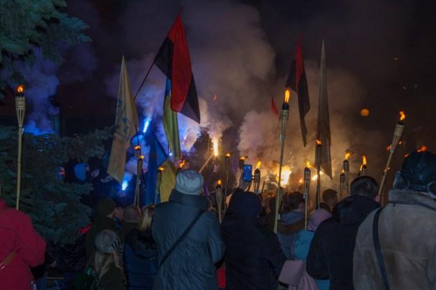 В Украине отпраздновали день рождения Степана Бандеры 10