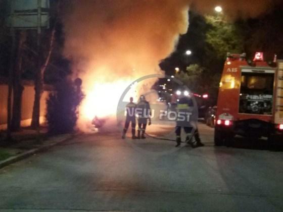 Прошедшей ночью неизвестные подожгли автомобили возле украинского посольства в Греции 2