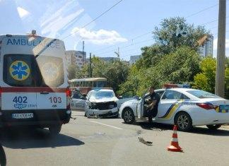 ДТП між авто патрульної полції та BMW у м. Харків