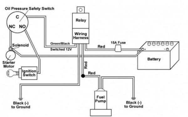 electric fuel pump wiring schematic