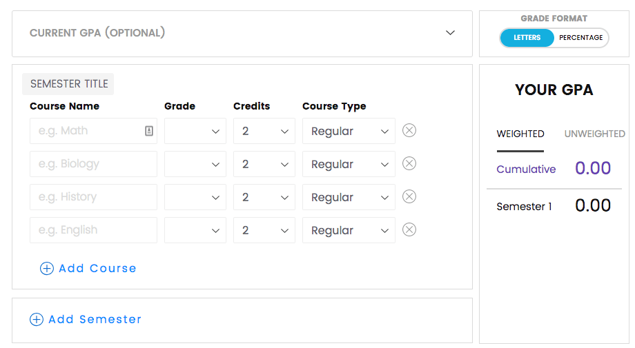 High School GPA Calculator - Student-Tutor Blog