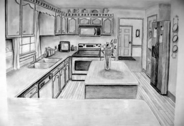 Perspective Kitchen Drawing