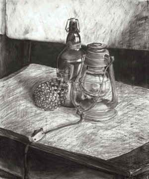 charcoal drawing still lamp painting drawings objects artists reflective studentartguide draw object realistic famous value surfaces observational lamps lanterns often