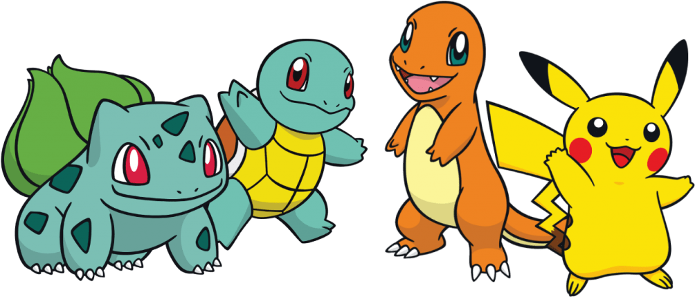 The Starters of the First Generation Pokemon Games