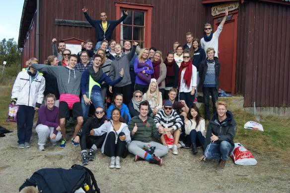Pareto og førsteklassingene på tur til Røros (Foto: Pareto Linjeforening).