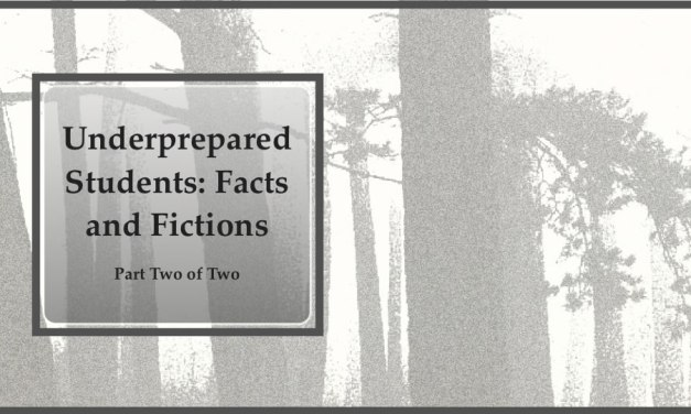 SC 42 #2 Underprepared Students: Facts and Fictions