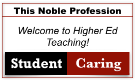 Welcome to Higher Ed Teaching!