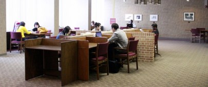 These are students studying in the Study Lounges.