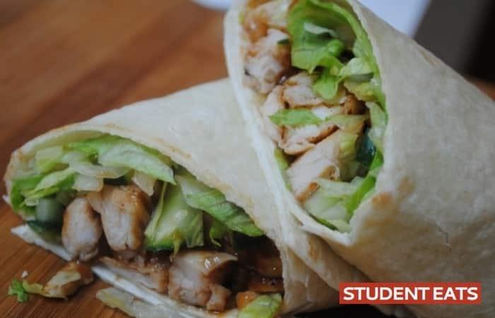 Hoisin chicken wrap 2