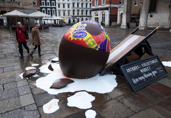 Cadbury's Celebrate Creme Egg Season In Covent Garden With The Goo Games