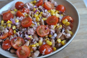 tuna bean salad - 1