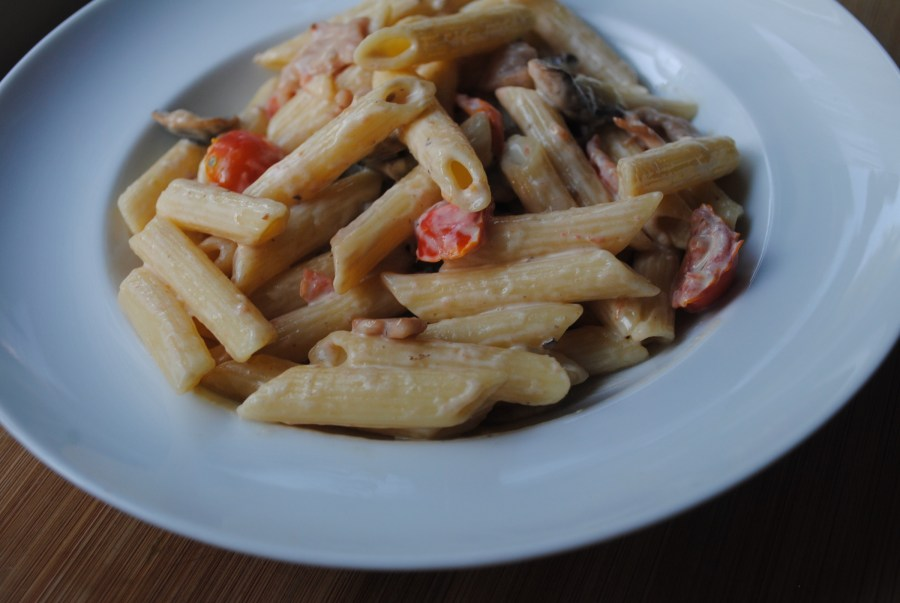 Bacon, Philli & Mushroom Pasta recipe - 1