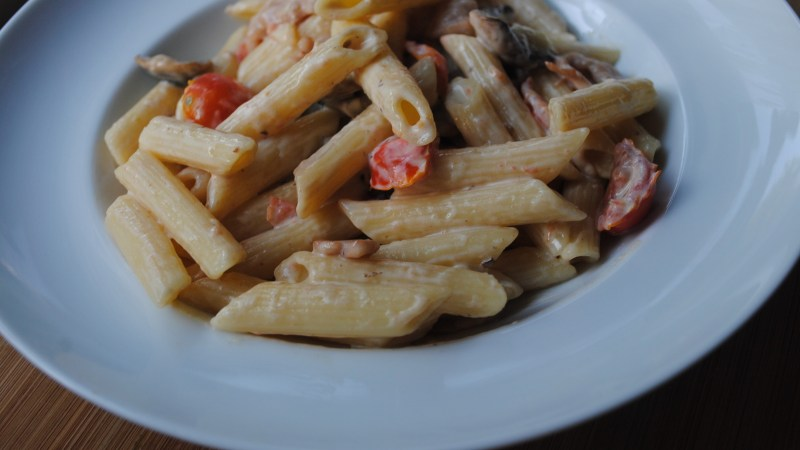 Bacon, Philli & Mushroom Pasta recipe - 1Bacon, Philli & Mushroom Pasta recipe - 1
