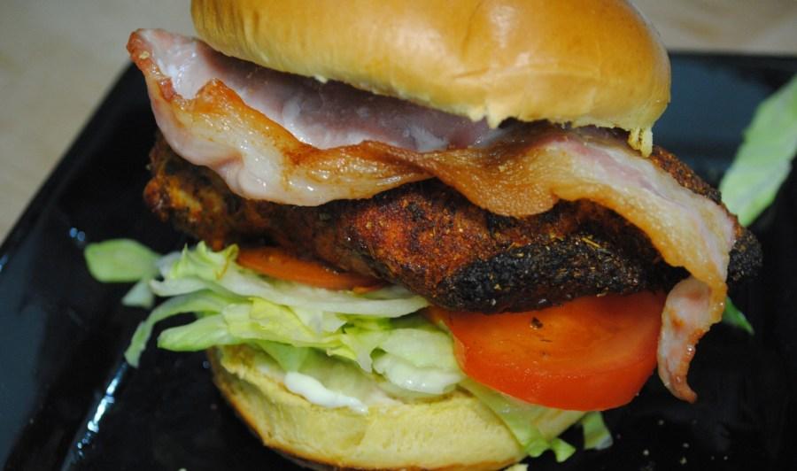 Cajun Chicken and Bacon Burgers Recipe - 1