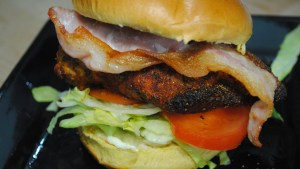Cajun Chicken and Bacon Burgers Recipe - 1