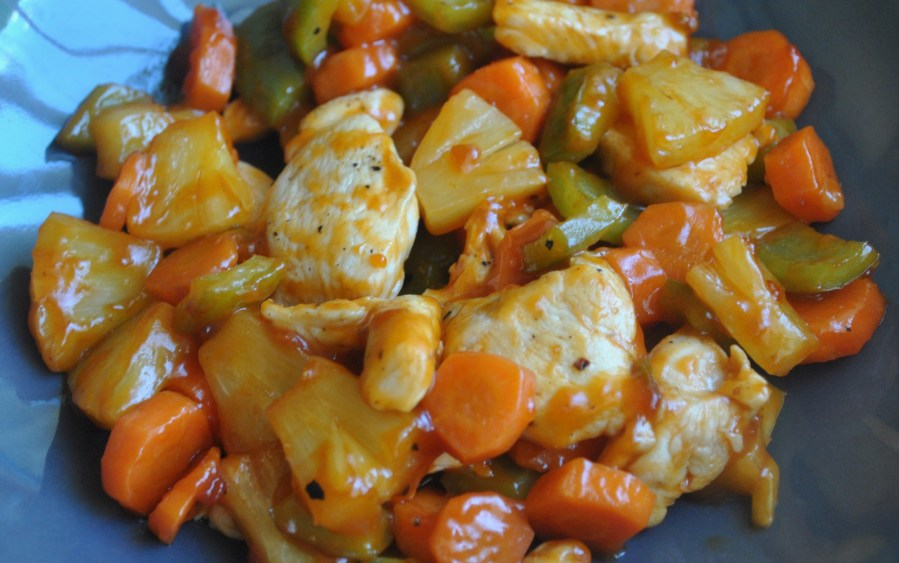 simple sweet sour chicken recipe - 1